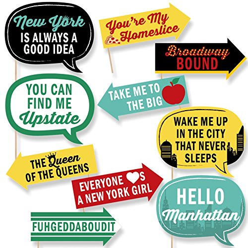 Funny New York - Photo Booth Props Kit - 10 Piece