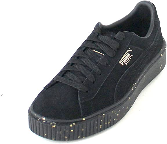 PUMA Sneaker Cool Ladies Vera Piattaforma Scarpe Piattaforma in Pelle Scamosciata celebrare Il Nero