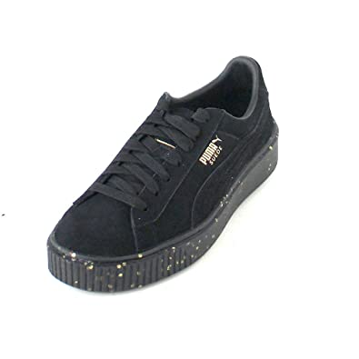 Puma Suede Platform Celebrate W chaussures noir or