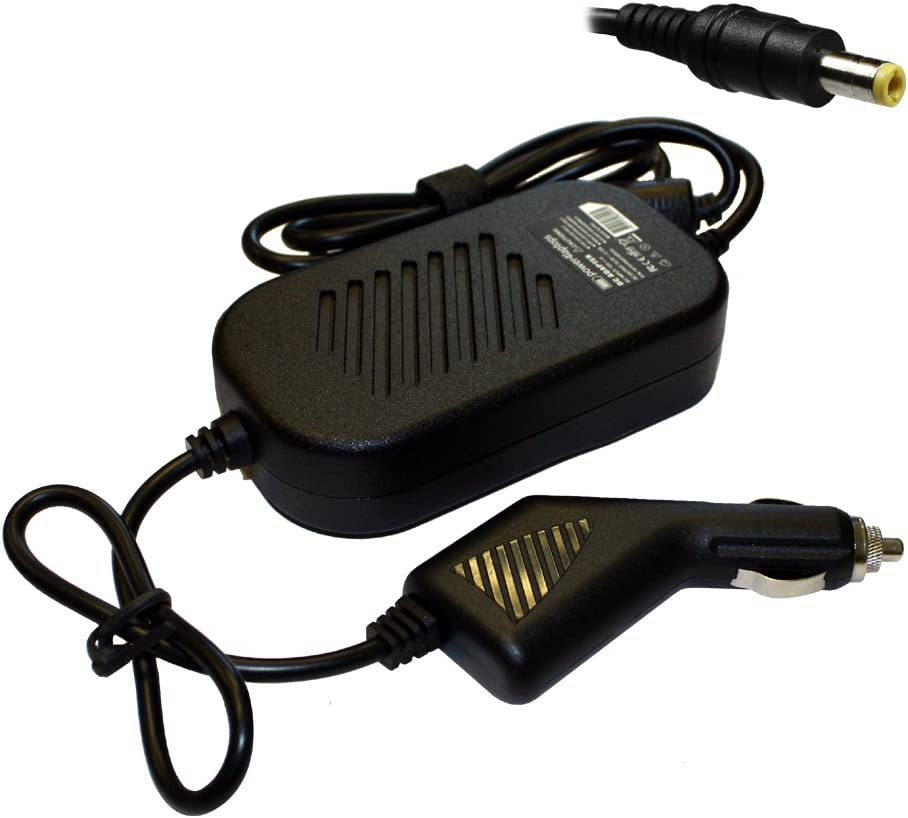 Power4Laptops DC Adapter Laptop Car Charger for Toshiba Satellite A305D-S6914, Toshiba Satellite A305D-SP6801, Toshiba Satellite A305-S6825, Toshiba Satellite A305-S6829, Toshiba Satellite A305-S6833