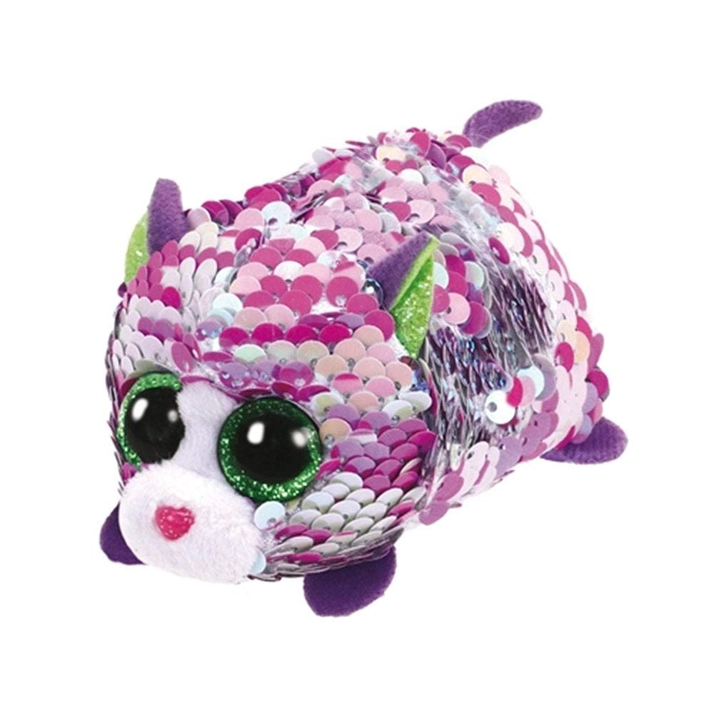 335bdad6ba3 Ty Flippable Sequins Lilac Cat Teeny  Amazon.co.uk  Toys   Games