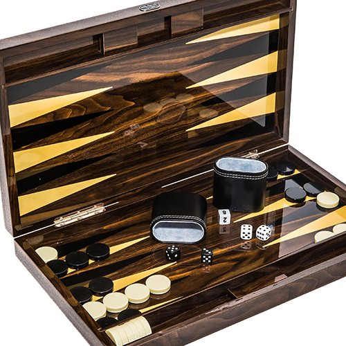 Christopher Street Deluxe Lacquered Backgammon Set 18 1/4