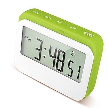 Compra Caoku - Reloj digital de cocina con temporizador de cuenta atrás, pantalla grande de color en carcasa de silicona, digital, alarma fuerte con soporte ...