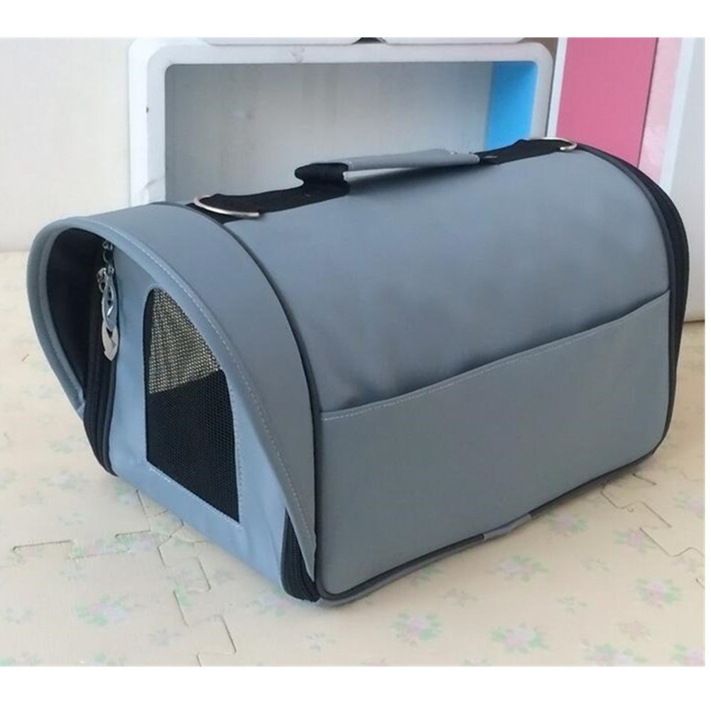 Aksautoparts Pet Soft-Sided Travel Portable Bag For Dogs Cats Puppies Travel Tote Bag (L, Grey)