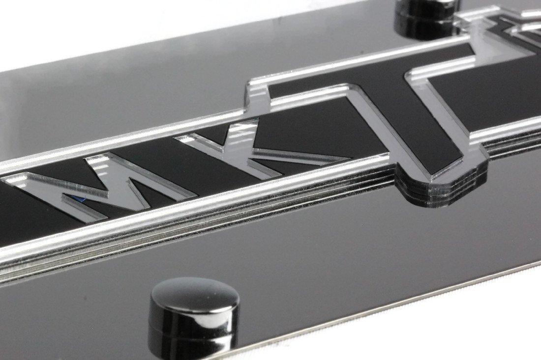 Eurosport Daytona Stainless Steel Plate Lincoln MKT Badge Mirror Black License Plate Frame Novelty