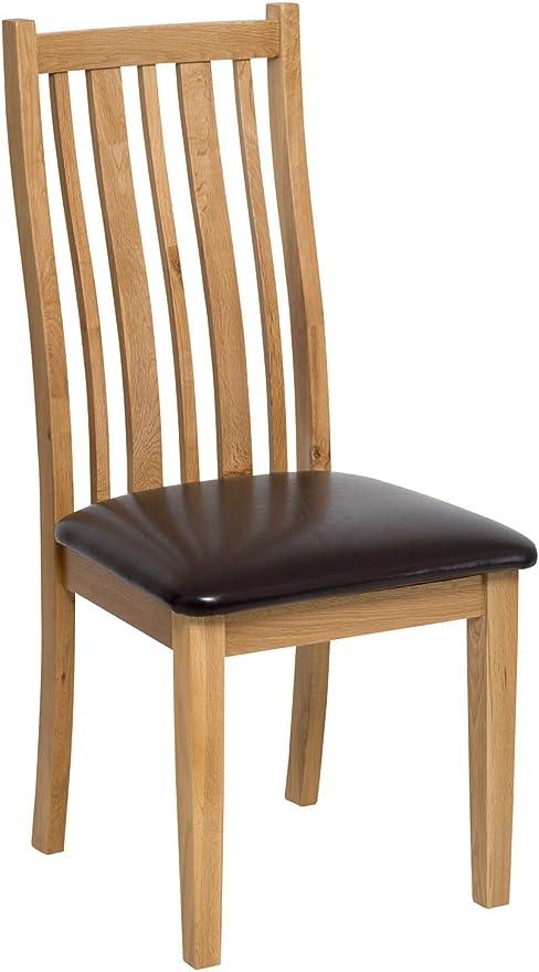 Chaise de Salle à Manger en chêne Massif en chêne Clair avec