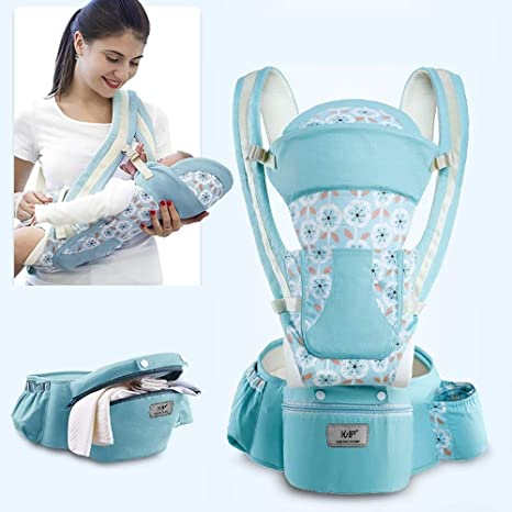 All Season Sling Newborn to Toddler | Ergonomic Support with Front and Back Facing 0-36 Months 6-in-1 Baby Carrier with Hip Seat