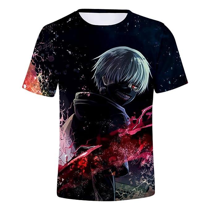 Tokyo Ghoul T-Shirt Unisex Estampado 3D Top Sudaderas de Sport Manga Corta Blusa Camisetas Casual Impresión Tops: Amazon.es: Ropa y accesorios