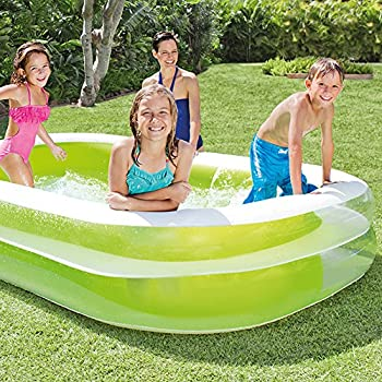 "Intex Swim Center Family Inflatable Pool, 103"" X 69"" X 22"", For Ages 6+ 1"