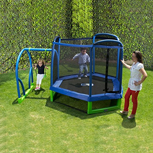 My first jump and swing by bounce pro trampoline warehouse for Trampoline porch swing