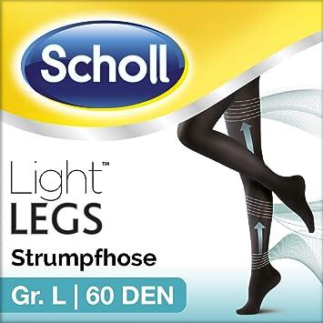 b8f24d86d73c9 Scholl Light Legs Strumpfhose – Damen-Strumpfhose mit Kompressionsfunktion  in L – Blickdichte, schwarze Stützstrumpfhose – 1 Paar mit 60 DEN