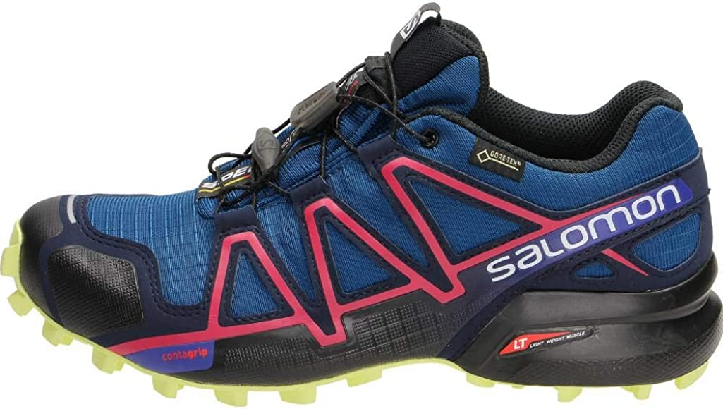 Salomon Speedcross 4 Gtx W, Zapatillas de Running Mujer, Azul (Poseidon Virtual/pink/sunny Lime), 37 1/3 EU: Amazon.es: Zapatos y complementos