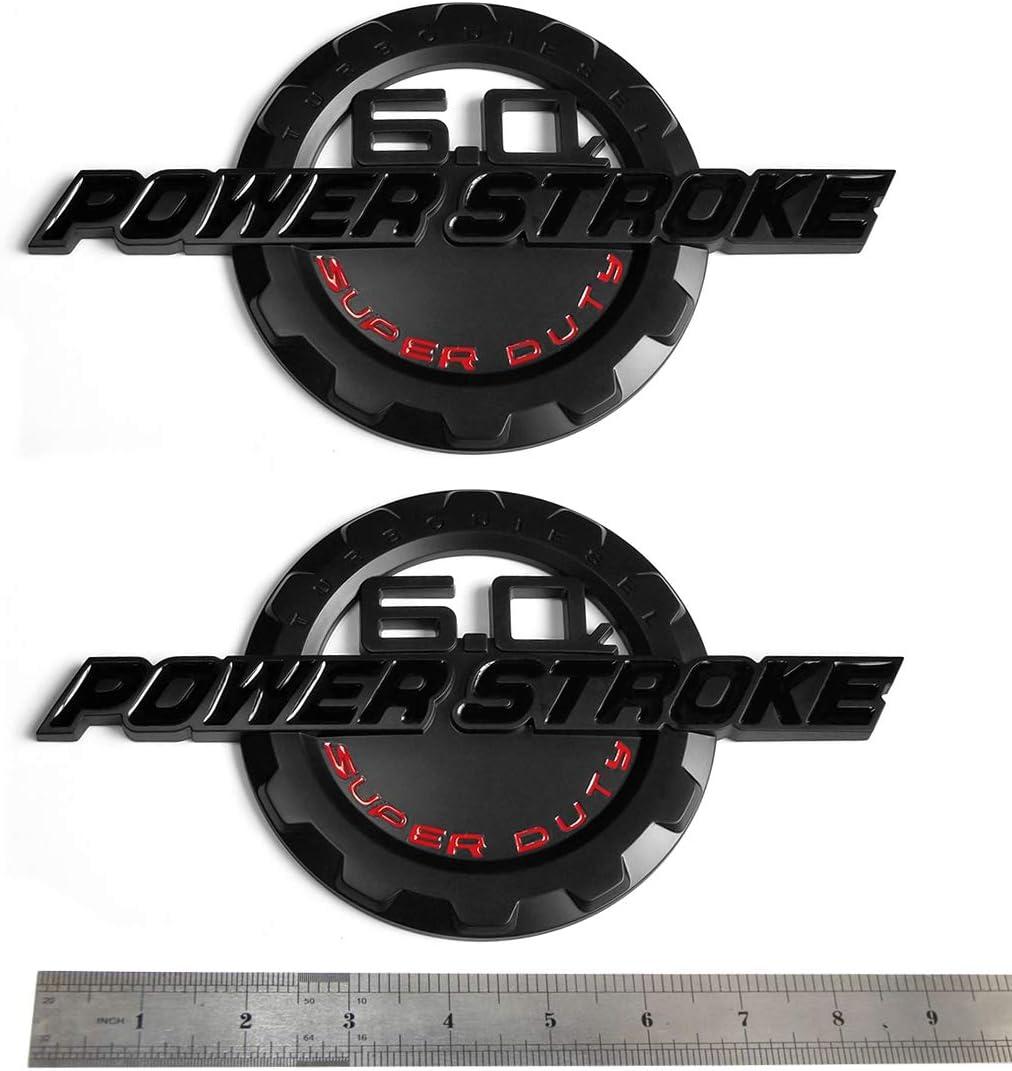 2x OEM Black F-350 XLT Super Duty Side Fender Emblems Badge 3D logo Replacement for F350 XLT Pickup Red Sanucaraofo