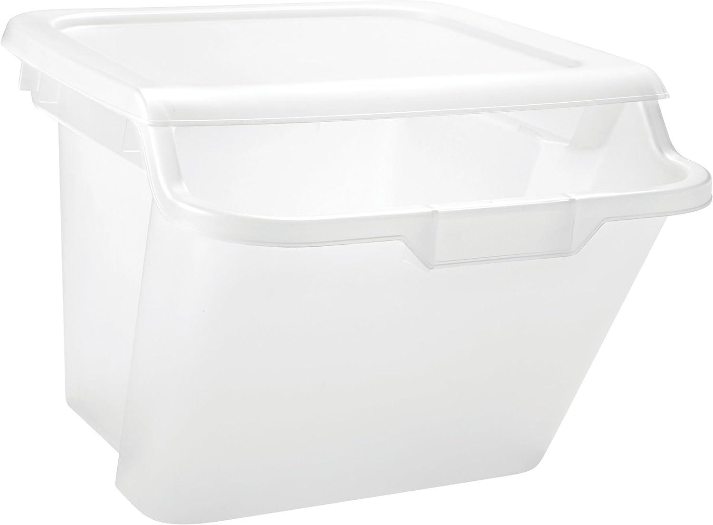 IRIS 41.5 Quart Recycle Storage Bin, 6 Pack, Clear