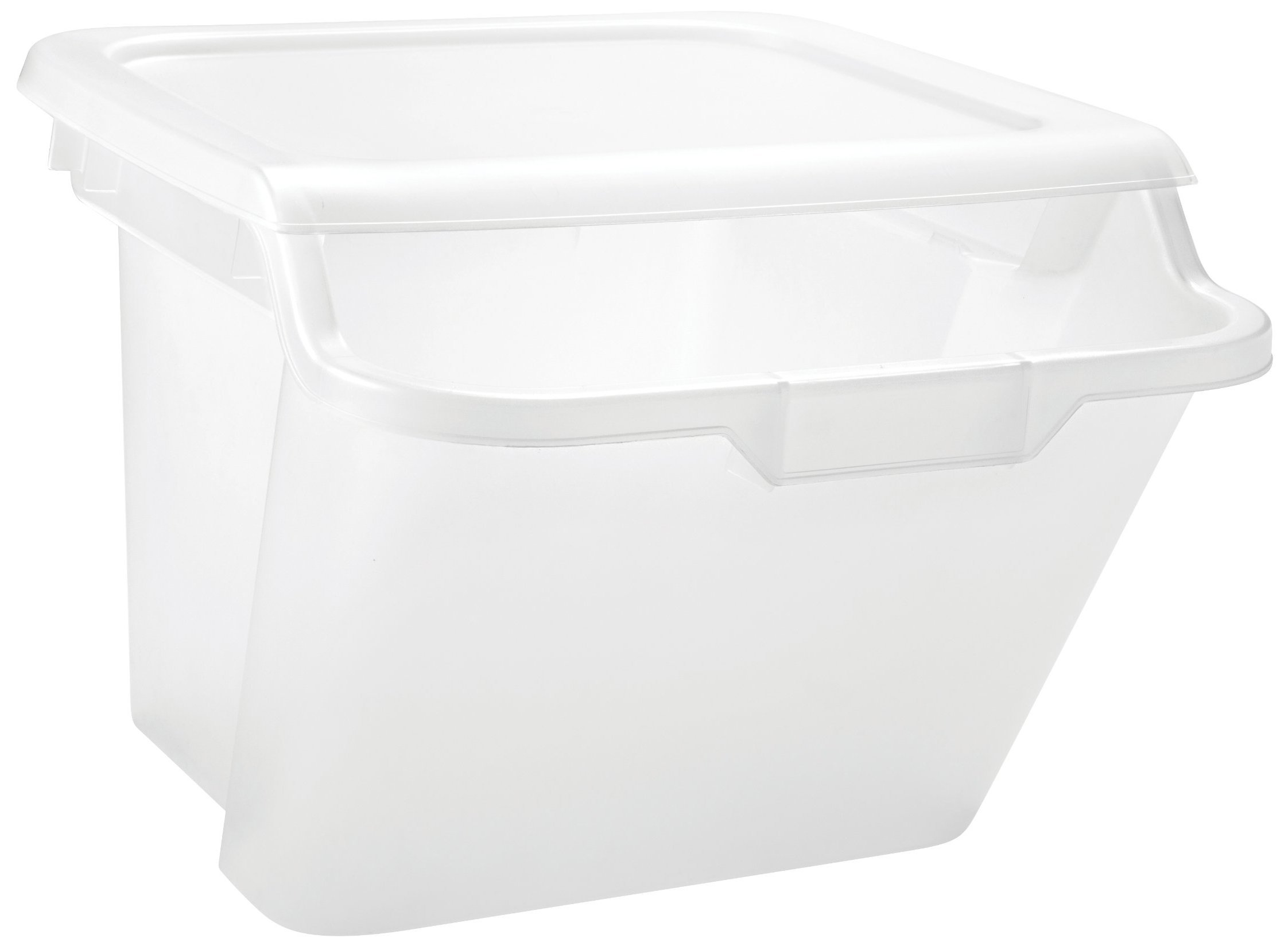 IRIS 41.5 Quart Recycle Storage Bin, 6 Pack, Clear