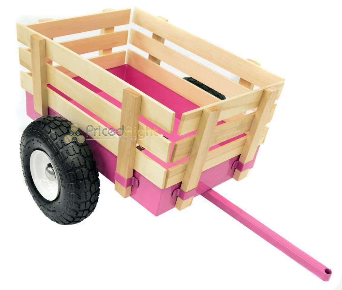 All Terrain Tricycle with Wagon (Pink), #CART-042P by Valley (Image #5)