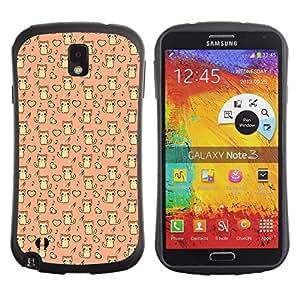 DesignCase Premium TPU / ABS Hybrid Back Case Cover Samsung Galaxy Note 3 III ( cute cat )