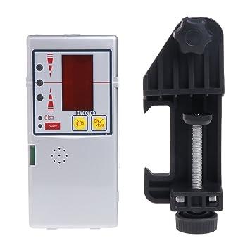 635nm Compatible Rojo Beam Leveling Cross Line Laser Receptor Detector con abrazadera: Amazon.es: Hogar