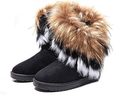 King Ma Women's Faux Fur Tassel Winter