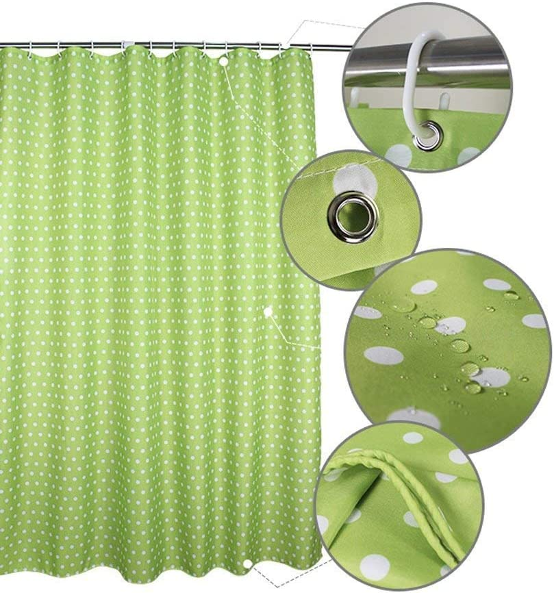 Point d'onde Verte imperméable épais Polyester Anti-moisissure Simple Moderne Frais Green