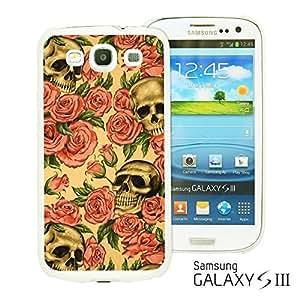 OnlineBestDigitalTM - Skull Pattern Hardback Case for Samsung Galaxy S3 III I9300 - Roses And Skull Pattern