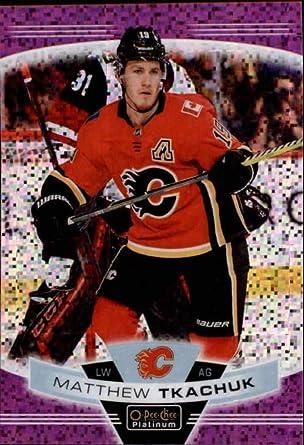Amazon Com 2019 20 O Pee Chee Platinum Violet Pixels 131 Matthew Tkachuk 399 Calgary Flames Nhl Hockey Trading Card Collectibles Fine Art