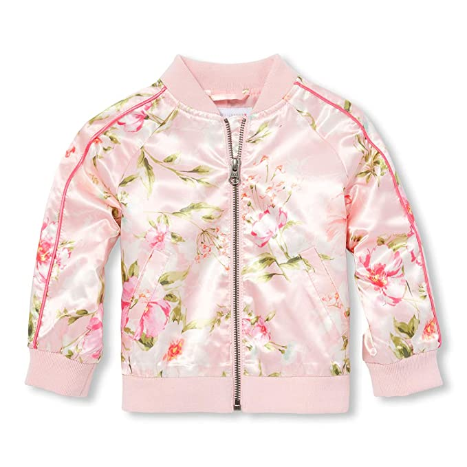 0e6ab7405 Amazon.com: The Children's Place Baby Girls Novelty Printed Bomber ...