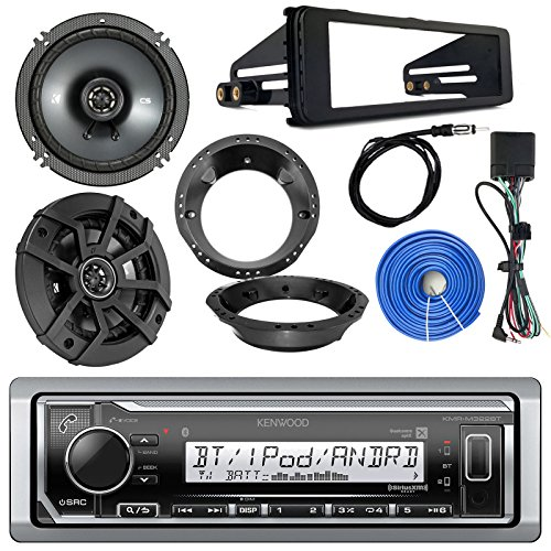 Kenwood Marine Digital Media Bluetooth Receiver, 2x Kicker 600-Watt 6.5