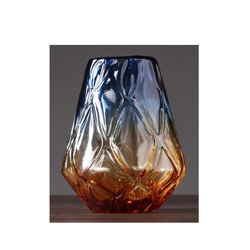 アメリカンカラー透明ガラス花瓶ホームデコレーションテーブルトップフラワーフラワーデコレーションディスプレイディスプレイ QYSZYG (Size : C high 29CM) B07R22SK91  C high 29CM