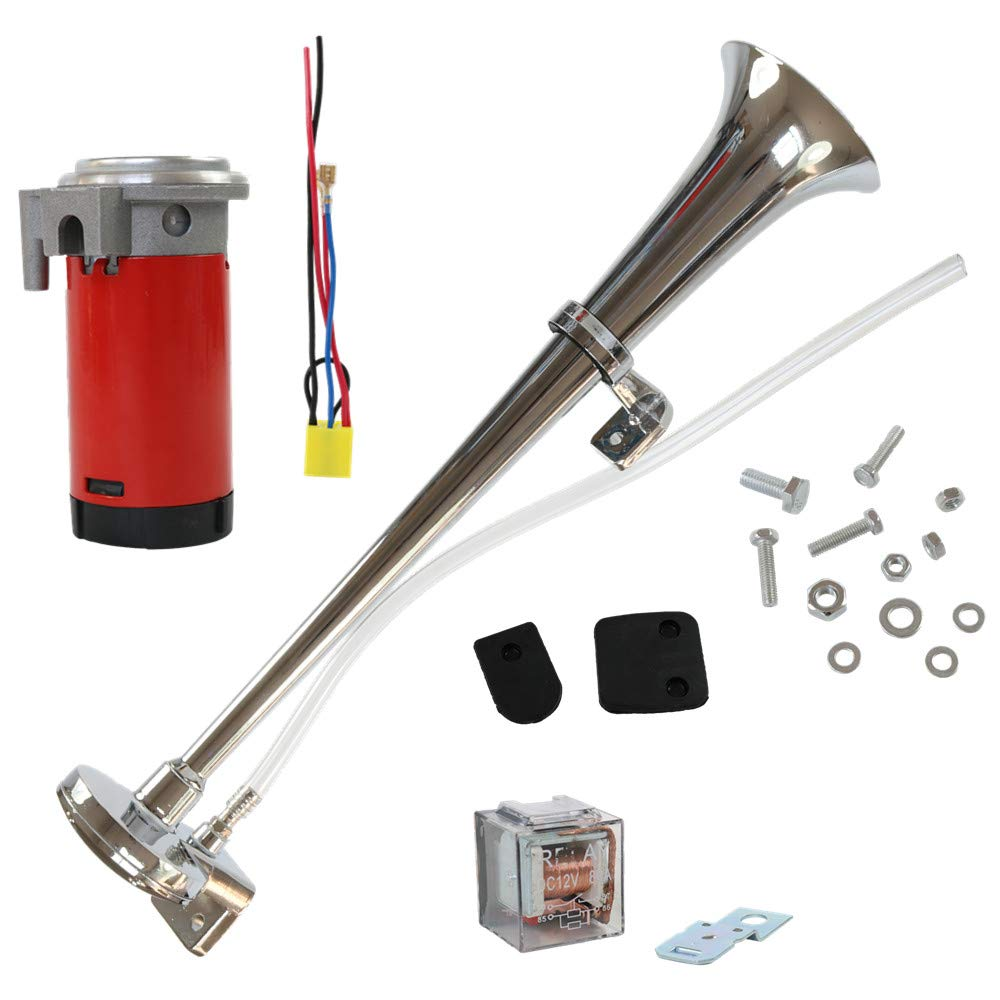 CARMOCAR Universal 150DB 12V Single Train Trumpet Car Air Horn Compressor with Super Loud