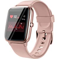 "Smart Watches for Women Men - True Heart Rate Waterproof Smart Watch with GPS Tracker, 1.3"" Full Touch Screen Fitness…"