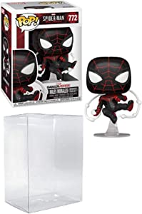 Spider-Man Miles Morales Advanced Tech Suit Pop # 772 Marvel Gamerverse Vinyl Figure (Bundled with EcoTek Protector to Protect Display Box)