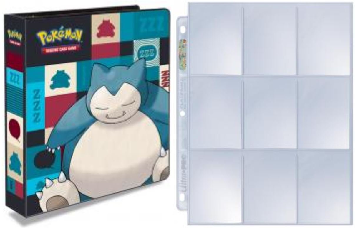 Ultra Pro Snorlax 2' Album + 25 Platinum Pages for Pokemon ACS Pacific Supply