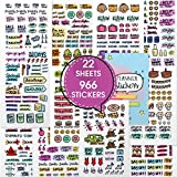 Planner Stickers - Value Pack of Productivity, Inspirational, Holiday, Fitness, Student Stickers for Daily, Weekly, Monthly Planner, Journal, Calendar, Agenda by Savvy Bee (22)