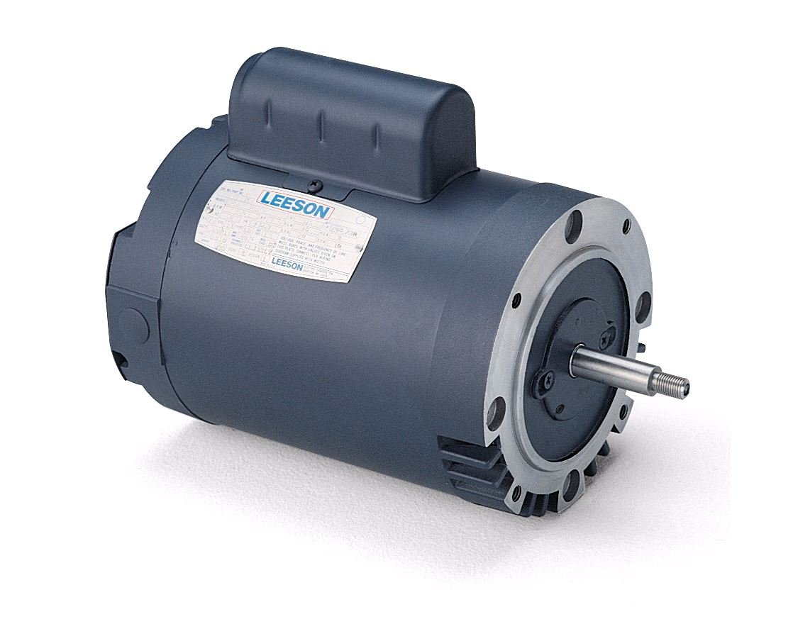 Leeson 113641.00 Jet Pump Motor, 1 Phase, 56J Frame, Round Mounting, 2HP, 3600 RPM, 115/208-230V Voltage, 60Hz Fequency