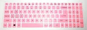 BingoBuy US Layout Keyboard Protector Skin Cover for 15.6'' Acer Aspire VX5-591G, Predator Helios G3-571 G3-572 G3-573, Nitro AN515-51 AN515-52 AN515-53 AN515-42 (Light Pink)