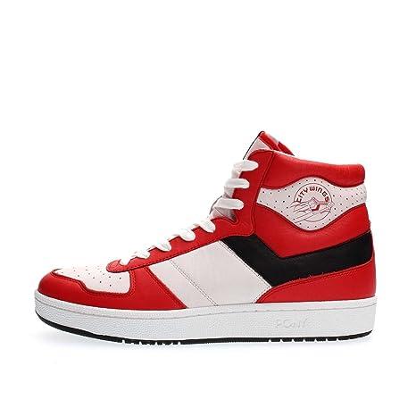 sneakers uomo PONY CITY WINGS HI pelle colore rosso bianco