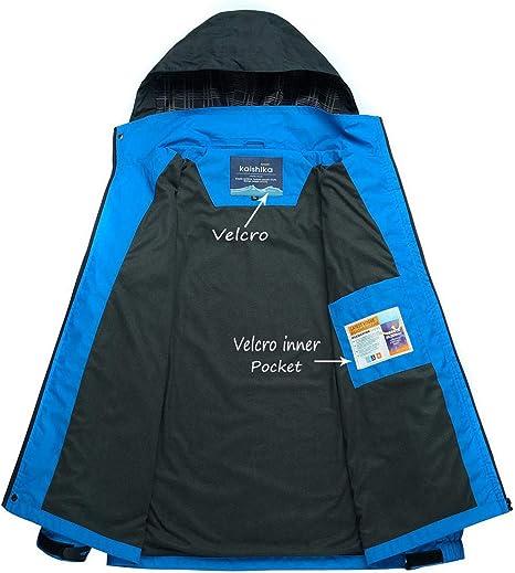 camping Chaqueta impermeable para hombre monta/ña senderismo resistente al viento con capucha YSENTO ligera