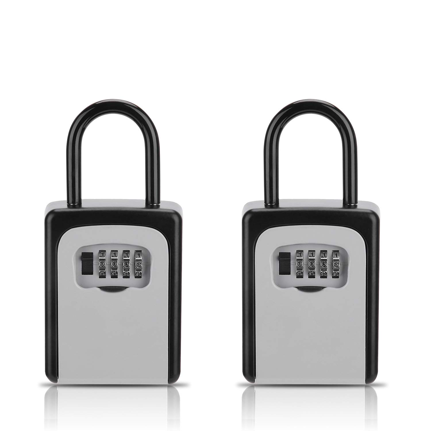 Key Lock Box, [2 Pack] Combination Lockbox for Keys with Code, Combo Door Lock-Box House Key Storage Locker - 2 Pack by Buteny