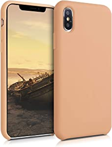 kwmobile TPU Silicone Case Compatible with Apple iPhone Xs Max - Soft Flexible Rubber Protective Cover - Peach