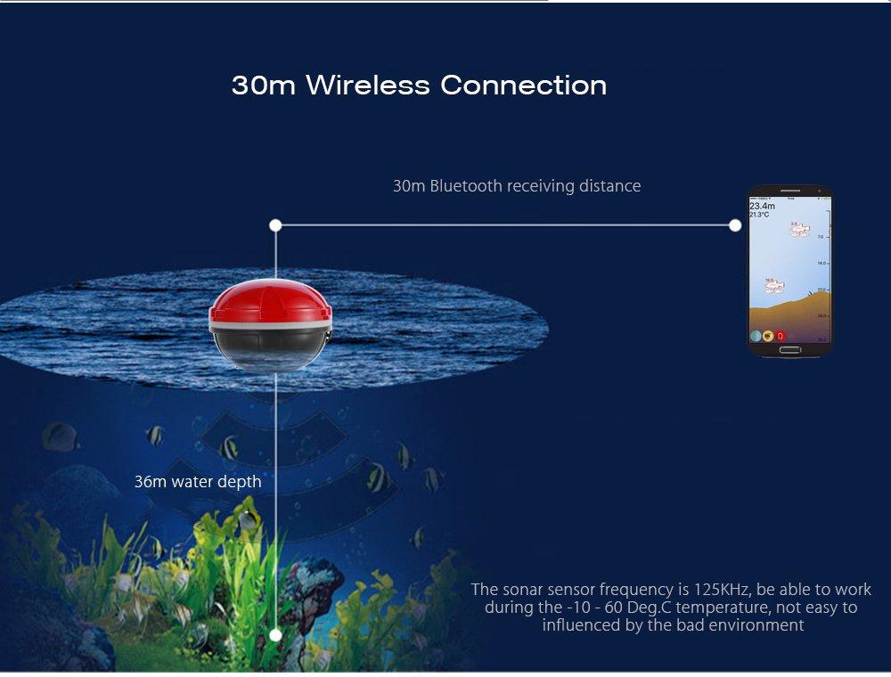 Portátil inalámbrica Sonar Sensor Pesca Buscador de peces inteligente detectar profundidad alarma táctico herramienta de pesca Fisher Helper, ...