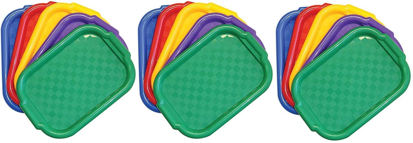 Jack Richeson Plastic Jack Riches on 400995 Multi Color Art Trays Set of 5