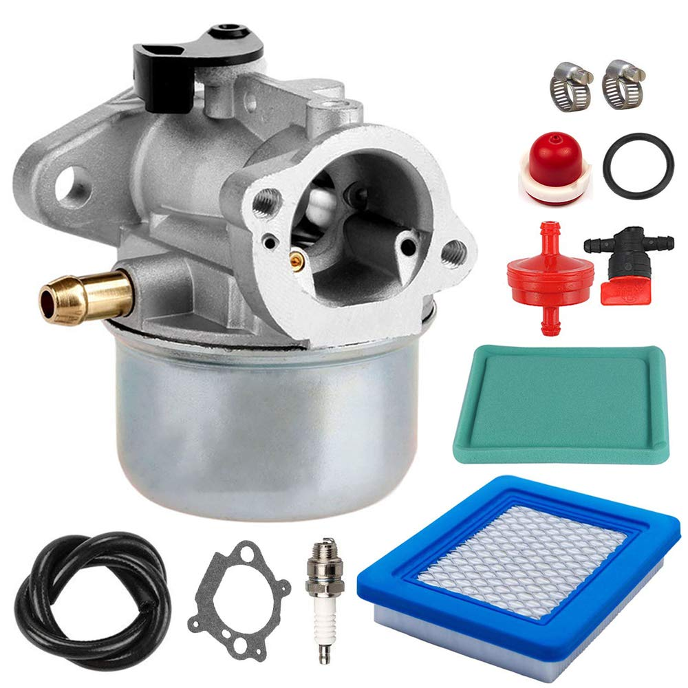 799868 Carburetor with Air Filter Spark Plug Tune Up Kit replaces for Briggs & Stratton Craftsman 694882, 698444, BS-799868, 498254, 798170, 498170, 49-817-0, 497347, 498966 and 497314.4-7 hp Engines