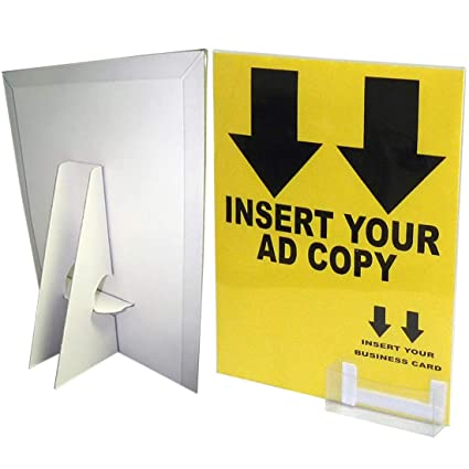 8 1 2 X 11 Cardboard Sign Holder Includes Display Cover Business Card