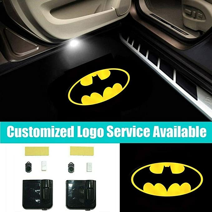 Rugby Team Logo Car Door Led Welcome Laser Projector Car Door Courtesy Light Suitable Fit for All Brands of Cars with New Engl logo Wasben 2pcs US