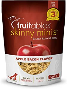 Fruitables Low Calorie Training Treats for Dogs | Apple and Bacon Flavor