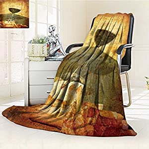 "Printsonne Luminous Microfiber Throw Blanket artistic work of my own in retro style postcard from italy wine tasting Glow In The Dark Constellation Blanket, Soft And Durable Polyester(60""x 50"")"