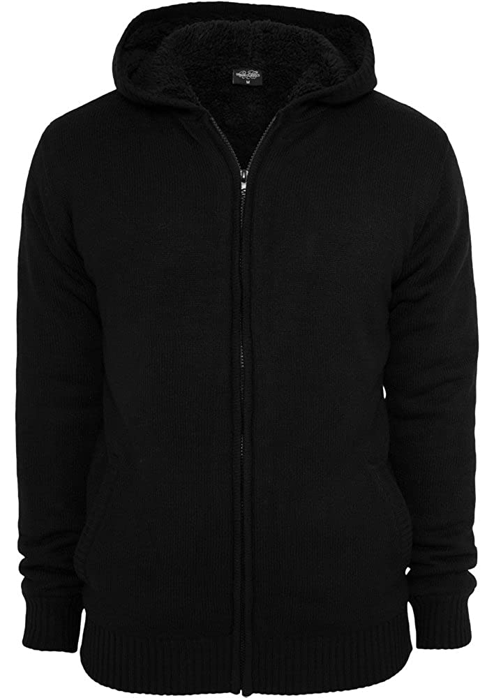Urban Classics Man Knitted Winter Zip Hoody TB556 Farbe:black//black;Gr/ö/ße:S