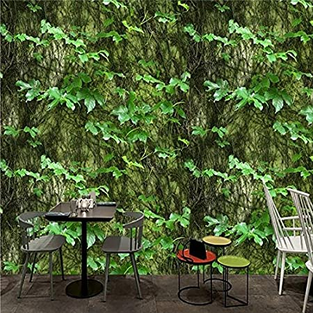 3d Photo Wallpaper Foglia Verde Arrampicata Tigre Vine Arte Astratta