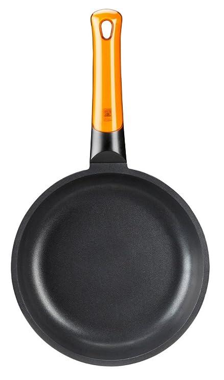 BRA Efficient Orange Sartén Honda 24 cm, Aluminio Fundido con Antiadherente Platinum Plus, Apta para Todo Tipo de cocinas incluida inducción, Libre de PFOA: ...